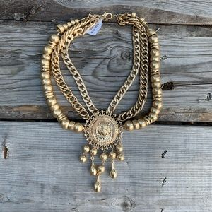 Free people lion statement necklace